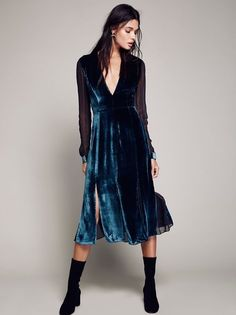 d01fd8b5c69e Amelina Velvet Dress at Free People Clothing Boutique