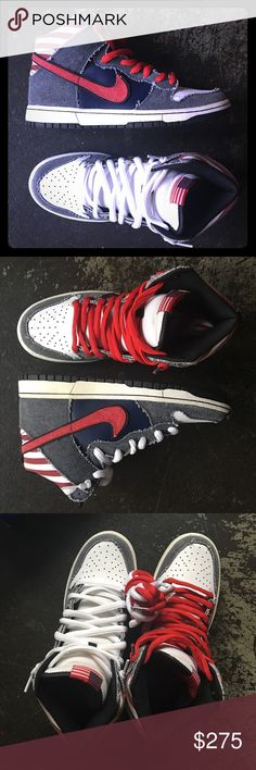 """newest 1e260 e4bb2 Nike SB Dunk High Premium """"Born in the USA"""" Excellent Condition Comes with  OG"""
