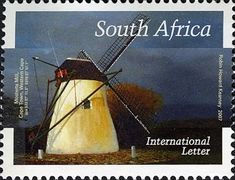 Stamp: Mostert\'s Mill, Cape Town (South Africa) (Mills of South Africa) Mi:ZA Union Of South Africa, Cape Town South Africa, Interesting Buildings, Le Moulin, Animal Quotes, Postage Stamps, Lettering, Windmills, African Animals