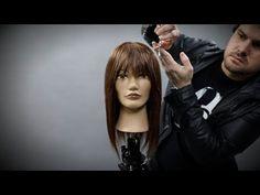 How To Cut Curtain Bangs Hair Tutorial   MATT BECK VLOG SEASON 2 EPISODE 8 - YouTube