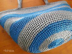 Marche BagSize/LColor/Silver×Blue Stripe