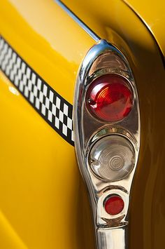 Checker Taxi Cab Taillights by Jill Reger. I've seeen these cars hopped up before, they remind me of the tri 5's