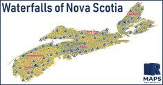 Waterfalls of Nova Scotia — MR Maps Yarmouth Nova Scotia, Nova Scotia Travel, Lake Garda Italy, Annapolis Valley, Places In Scotland, Travel General, Road Trip Adventure, Cape Breton, Newfoundland And Labrador
