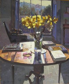 Daffodils Contre Jour, Bruce Yardley (born 1962).                              …