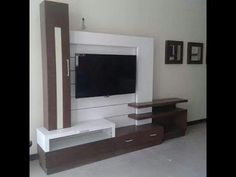 Interior Design Home Interiors Lcd Unit Design, Lcd Wall Design, Tv Unit Furniture Design, Tv Unit Interior Design, Tv Unit Decor, Tv Wall Decor, White Tv Unit, Lcd Units, Modern Tv Wall Units