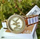 Women's Michael Kors Parker Gold Glitz Glam MK Watch MK6313