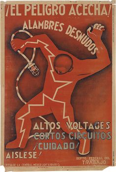 mexican safety poster