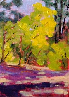 small oil painting - love the color