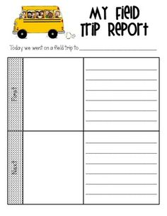 This worksheet can be used to help students review and reflect on class field trips. There is space to draw a picture and report on what happened first, next, then, and last.