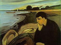 Edvard Munch, Melancolía,1894-1895.