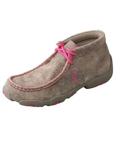 Twisted X Kid's Driving Moccasin Shoes - Dusty Tan/Neon Pink Twisted X Boots, Kids C, Breast Cancer Support, Driving Moccasins, Kids Boots, Western Outfits, Purple, Pink, Me Too Shoes