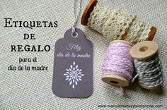 Etiquetas regalo para el día de la madre / Mother's day gift tags | Aprender manualidades es facilisimo.com