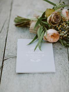 Grey Pear Paper Co. Wedding Stationery | Naomi Neoh Violette Wedding Dress | Thyme Cotswolds Wedding Venue | Twobirds Bridesmaid Dresses | Pastel Colour Scheme | David Jenkins Photography | http://www.rockmywedding.co.uk/melissa-julian/