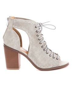 9196ec21935c9 Love this Gray Tiffany Lace-Up Bootie on  zulily!  zulilyfinds Bootie  Sandals