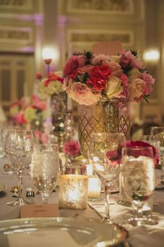 Vintage pink and white wedding centerpieces Vintage Centerpieces, Wedding Reception Centerpieces, Wedding Venue Decorations, Wedding Receptions, Our Wedding, Dream Wedding, Pink And White Weddings, Philadelphia Wedding, Bridal Flowers