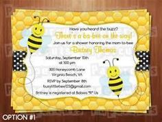 Cute Bee theme invites.