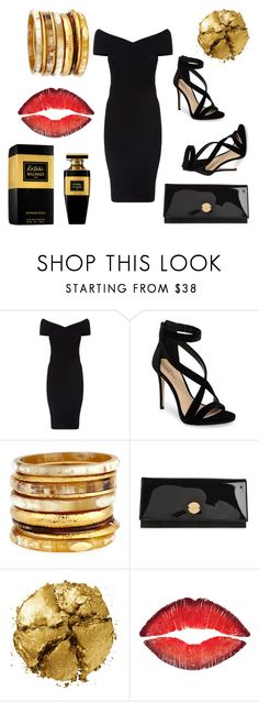 """temptation 2"" by fall83 on Polyvore featuring Balmain, Maje, Imagine by Vince Camuto, Ashley Pittman, Jimmy Choo, Pat McGrath and Givenchy"