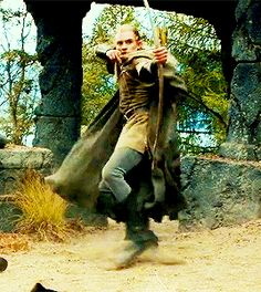 Legolas Greenleaf....and the gif ruining dwarf. << Don't dis Gimli!!