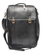 Comfort 15 inch Pure Leather Black Laptop Bag for Man and woman EL34