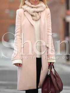 Shop Pink Long Sleeve Lapel Coat online. SheIn offers Pink Long Sleeve Lapel Coat & more to fit your fashionable needs.