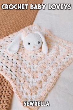 These lamb and bunny baby lovey patterns are so cute and easy for baby shower gifts! The free crochet patterns are simple amigurumi projects. Crochet Baby Loveys - free patterns Sewrella · free crochet patterns sewrella sewrella These lamb and bunn Crochet Lovey Free Pattern, Baby Afghan Crochet, Granny Square Crochet Pattern, Crochet Bunny, Crochet Baby Hats, Crochet Blanket Patterns, Cute Crochet, Baby Patterns, Baby Knitting