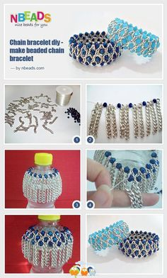 Chain bracelet diy-make beaded chain bracelet
