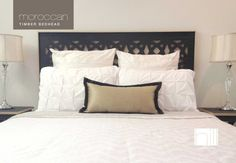 King Moroccan Style  Timber Bedhead  Headboard  by HillFurnishings, $449.00