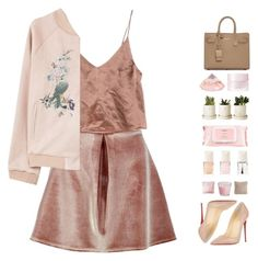 """you're too good for me"" by lanadelnotyou ❤ liked on Polyvore featuring Boohoo, MANGO, Christian Louboutin, Yves Saint Laurent, SUQQU, Mamonde and JAG Zoeppritz"