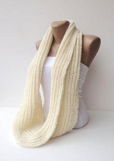infinity scarves, women scarf , hand - crocheted scarf , men , loop scarf, circle scarf / fashion scarf / knit / knitting. $30.00, via Etsy.