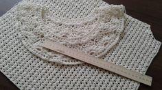 Пуловер крючком с круглой кокеткой. Часть 8.