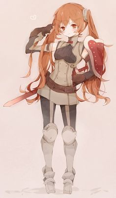 Fire Emblem: Awakening - Selena, or in America, Severa ^-^ She's such a grumpy tsundere, like me, and her design is adorable!!