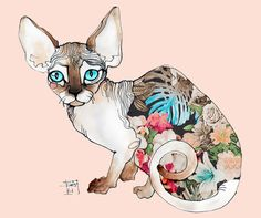 sphinx cat Art Print http://www.kittyinny.com/