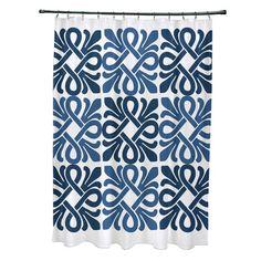 Red Barrel Studio Selina Shower Curtain Color: