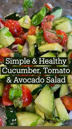 Avocado Salad Recipes, Best Salad Recipes, Veggie Recipes, Diet Recipes, Vegetarian Recipes, Cooking Recipes, Avocado Tomato Salad, Mayo Pasta Salad Recipes, Broccoli Recipes