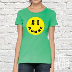 DJ Tshirt Acide house tshirt Smiley face 90s rave DJ