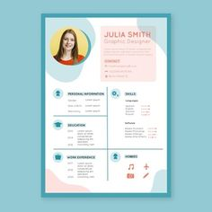 Graphic Design Resume, Graphic Design Services, Freelance Graphic Design, Resume Design Template, Cv Template, Curriculum Vitae Template Free, Conception Cv, Online Portfolio Design, Cv Inspiration