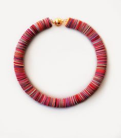 Paper jewelry multicolor summer choker ethnic round necklace for anniversary gift birthday gift colorful fashion necklace by AlfieriJewelDesign