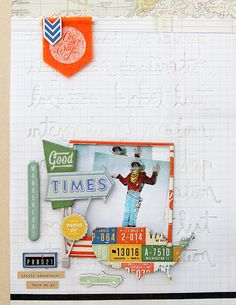 """The Cut Shoppe: Layout by Guest Designer Tina Walker uses """"Here & There"""" cut file."""