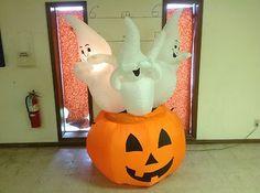 Gemmy PROTOTYPE Airblown Inflatable Halloween Three Ghosts in Pumpkin # 26988