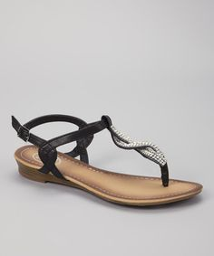 Take a look at this Black Twist Sandal by Carrini on #zulily today!