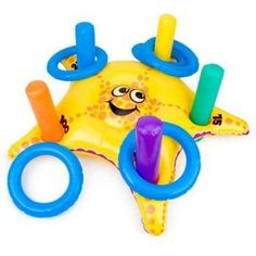 Find Inflatable Starfish Ring Toss Game (each) and other Summer & Luau Parties party supplies. The most popular party Supplies and Decorations, all available at wholesale prices! Beach Party Games, Toddler Party Games, Dinner Party Games, Games For Toddlers, Birthday Party Tables, Birthday Games, Birthday Ideas, Luau Party Supplies, Ring Toss
