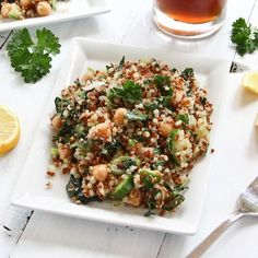 Quinoa Salad with Kale and Chickpeas...