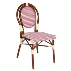 House Brand Paris Purple Chair Available at 5rooms.com Bistro Chairs, Dining Room Chairs, Outdoor Chairs, Outdoor Furniture, Outdoor Decor, Purple Chair, Polka Dot Chair, Lovely Things, Pastels