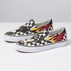 47202c66c1 Disney x Vans Classic Slip-On All Red Vans