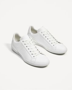 966dfe3b7 Image 1 of WHITE SNEAKERS from Zara Every Man, Adidas Sneakers, White  Sneakers,