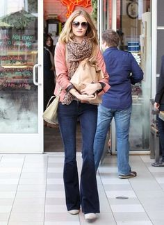 Looks I love: rose color top on Rosie Huntington Whiteley