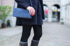 Mode and The City - Blog mode et lifestyle // Preppy in Blue + rainboots and socks