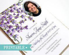 Funeraria Memorial anuncio o invitación archivo por STNstationery