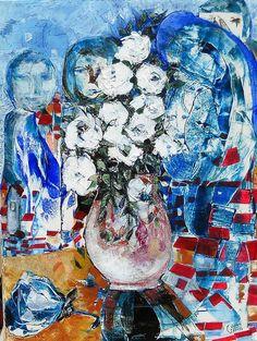 A MIA MADRE MARIA 60x80 cm acrilico catrame resine di GRossi Artista su DaWanda.com