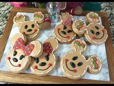 Mickey & Minnie Mouse Gingerbread Cookies(How To)